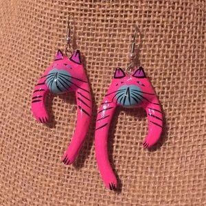 1980s Cat earrings